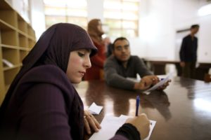 UN Photo ©Iason Foounten Libyan student at UN Workshop