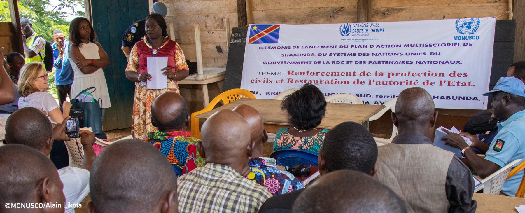 Les Nations Unies et ses partenaires en RDC lancent un plan de stabilisation autour de Shabunda